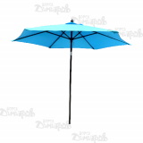 Голям градински чадър с профилни спици